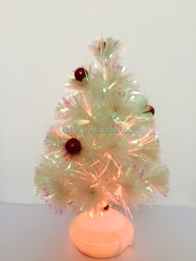 Table White Decorative With Red Ball Christmas Tree
