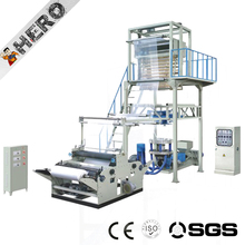 Film blowing machine with one color gravure printer plastic film blowing gravure printing machine