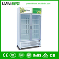 780L glass door upright refrigerator cooler fridge freezer cooler/led beverage cooler