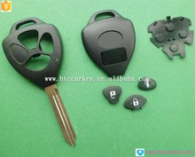 Toyota 3 button transponder remote key shell toy47 blade