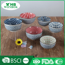 Made in China printing vietnam ceramic bowl with various pattern