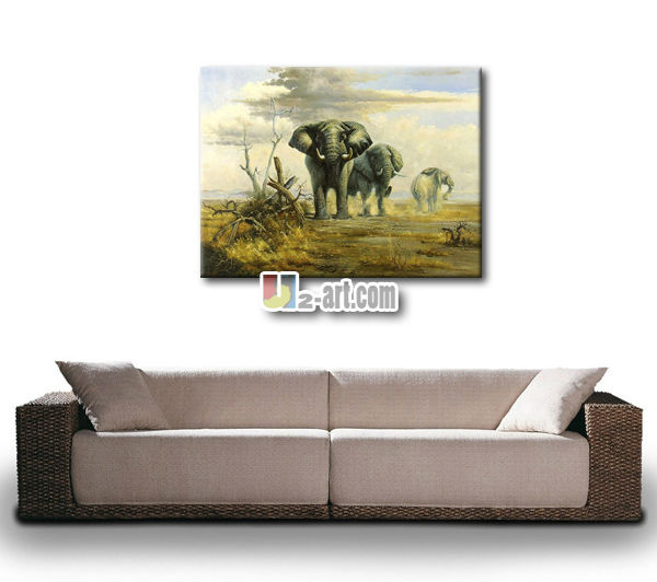 African animal Elephant Oil Painting