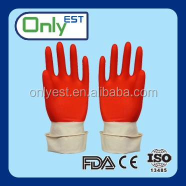China supplier gradening extended cuff newly natural household latex glove