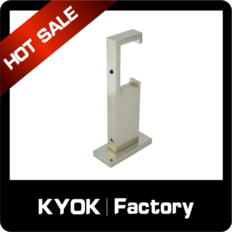 KYOK Adjustable custom precision metal curtain rods brackets,extendable aluminum alloy curtain rod bracket with amazing price