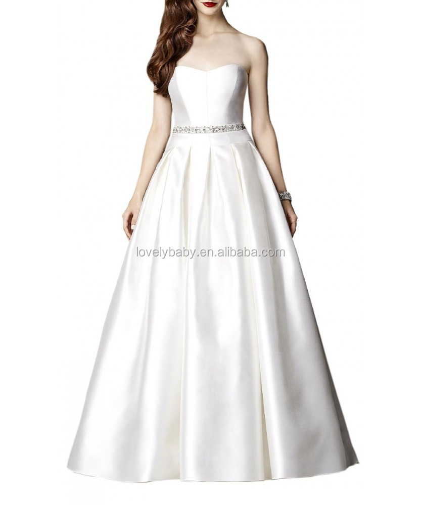 hot sale white color ball gown prom dress a-line evening dress