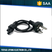Latest design high performance black rubber australia power cord plug