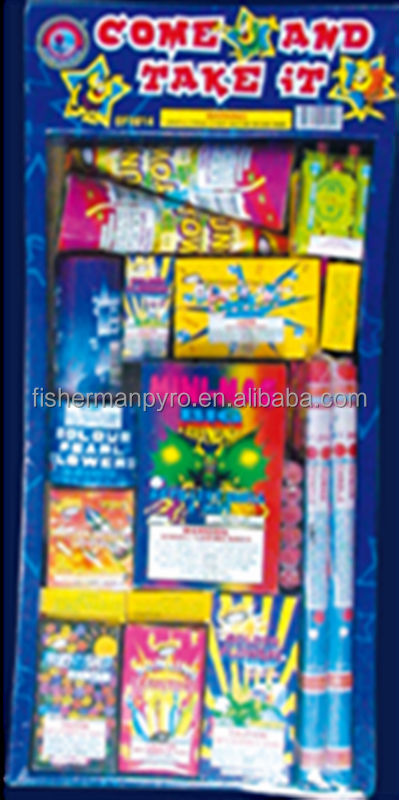 High Quality Family Assortment Fireworks COME AND TAKE IT Selection Boxes Fireworks for sale