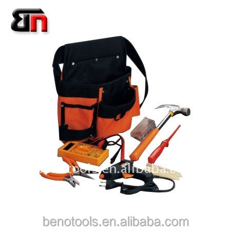 Oem Portable bag Orange Tools,15Pcs Combined Mechanical Tools,Home DIY Electronics Repair Hand Tool Set