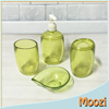 Green Bathroom Accessories Set Plastic Acrylic
