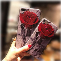IMD Full Printing Rose Flower Mobile Phone case for iphone 7/7plus/5/6