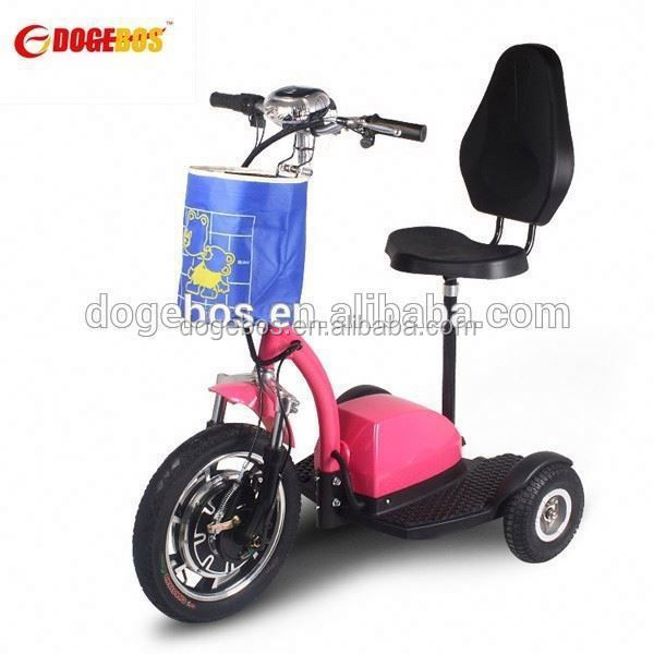 Trade Assurance 350w/500w lithium battery popular cargo 3 wheels scooter with front suspension