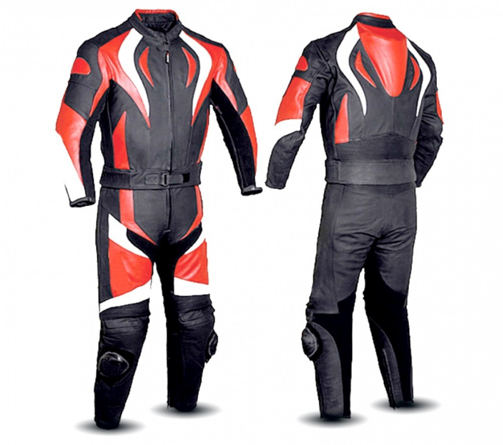 MENS MOTORBIKE LEATHER SUIT 3 COLORS COMBINATION