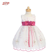 China custom made party prom dress little queen dresses kids wedding gown