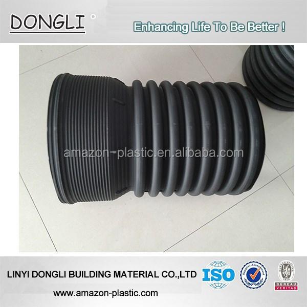 Large diameter plastic drain pipe corrugated hdpe