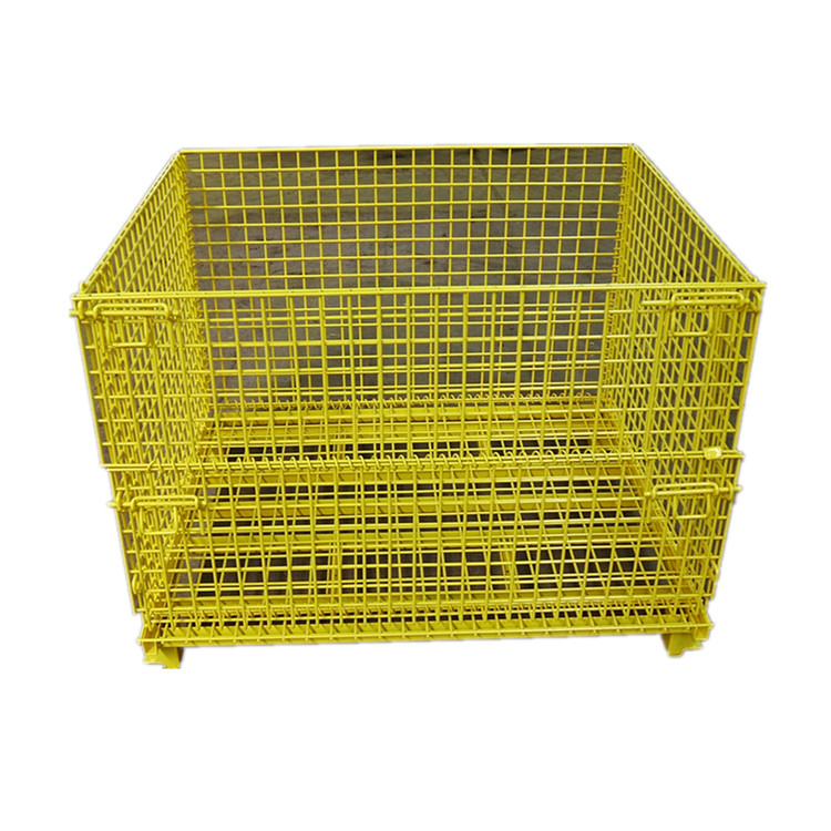 Cargo transport storage forklift safety galvanized folding wire cages