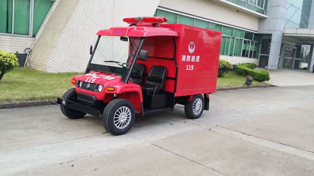 Top quality popular electric mini fire truck 4 wheel fire fighting vehicle