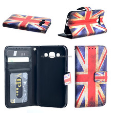 China factory exporting flip wholesale leather cover case for Samsung Galaxy E5