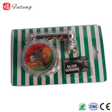 futeng cheap plastic herb grinder tobacco wholesale metal smoking pipes