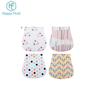 HappyFlute Factory Baby Burp Cloths Premium Durable 5 Pack baby girl burp cloth for Boys and Girls