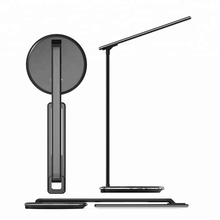 Foldable Fast Charging Led Desk Lamp 48 LED Rechargeable Qi Wireless Charger Table Lamp Office Reading Touch Dimmer Lamps