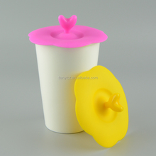 China Supplier Eco Friendly Silicone Cup lid Silicone Rubber Coffee Cup Cover Lid