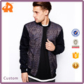 front and back print Bomber jacket/zip men clothing supplier china/wholesale apparel