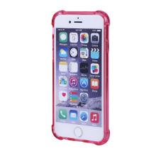 shock proof Transparent Back Cover Clear TPU PC Phone Case for iphone 6 6S