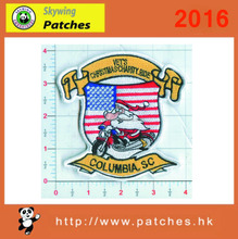 flag pattern with Christmas Santa Claus in embroidery patches