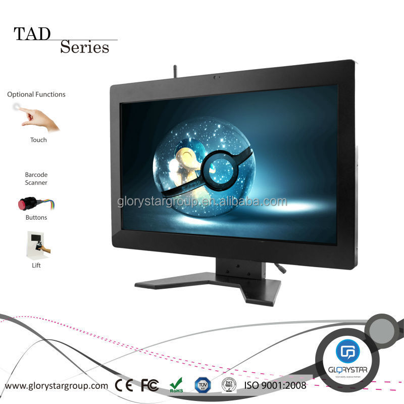 LCD Video Monitor Advertising in Retail Store 22 inch Advertising Display Monitor