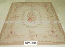 Wool+Silk handmade Aubusson Rug Stock XPA6046