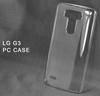 2014 New arrival clear waterproof PC hard mobile phone case for LG G3