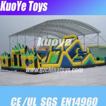 inflatable games manufacturer boot camp camouflage inflatable water obstacle course