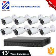 China manufacture 1.3M 720P D1 CIF resolution 8ch poe nvr cctv camera kit