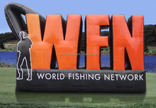 Inflatable World Fishing Network Logo Wall/inflatable logo