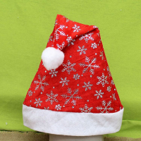 New brand 2015 Non-woven Christmas Hats Red Caps 28cm*36cm For Christmas Decoration Supplies