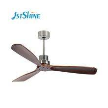 1stshine Nordic DC High quality house hotel department coffee room indoor decorative solid wood blade with 3 CLR LED light fan