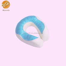 Cooling gel U shape memory foam neck pillow for travel or rest or watching TV or driving