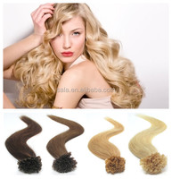 HOT sale factory price Human Remy Hair Pre Bonded Keratin nail tip/ U tip Extensions Salon, ready stock,high quality