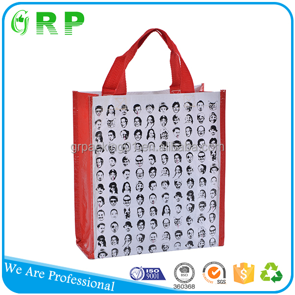 BSCI custom printing foldable handled carrier shopping bags