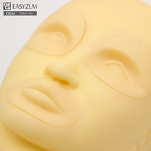 3D practice tattoo head mannequin,silicone makeup model head,rubber permanent makeup practice skin