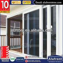 Hot Sale Four Panels Aluminium Framed lift & Sliding Glass Door with Double Glazing and with AS2047, AS/NZS2208 Certificate