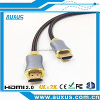 Full stock hdmi cable 2M/6FT high speed HDMI cable 2.0 support 3D 4K*2K for HDTV, LCD, DVD