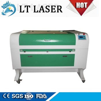 leather Laser engraving cutting machine with water chiller cw5000
