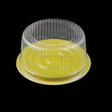 clear PET plastic disposable cake containers Wedding Cake Box design