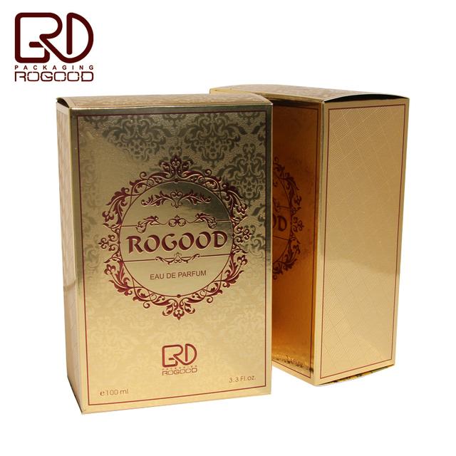 325g Gold paper pantone color print Arabic fragrance perfume box RGD-P1006
