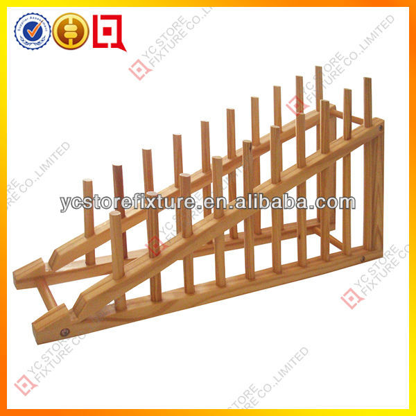 Counter Top Wood Plate Display Rack Buy Plate Display