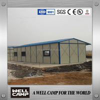 Factory supply sandwich panel prefab house for refugee house