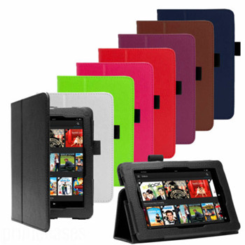LEATHER PREMIUM SMART CASE COVER FOR NEW AMAZON KINDLE FIRE HDX 7