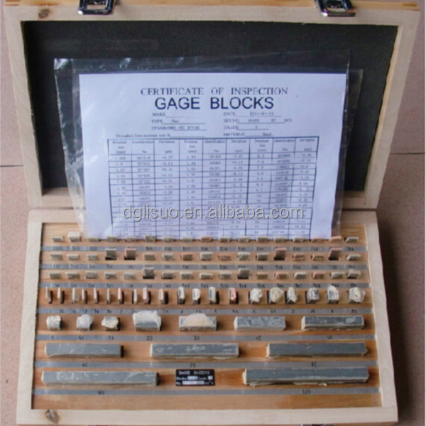 High Precision Carbide Wooden Case Packed Gauge Block Set