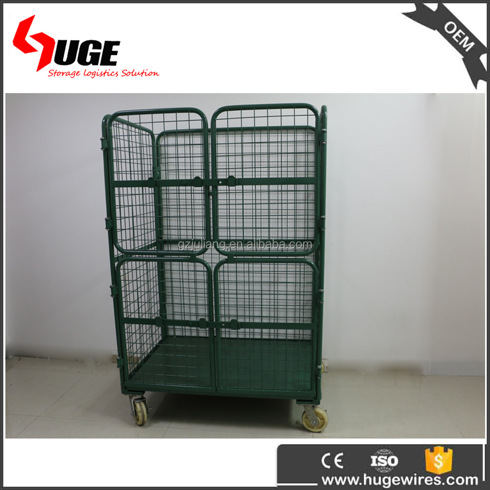 Nestable Folding Workshop Shopping Transport Cargo Tools Trolley Cart